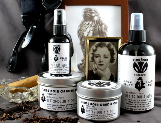 Hunter-Dulin Bldg - Sam Spade inspired soy wax candle + room spray set - Flame Noir Candle Co