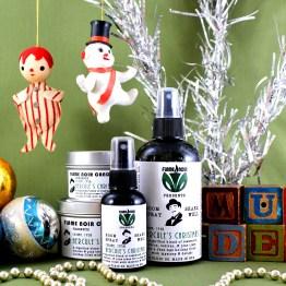Hercule's Christmas - Hercule Poirot inspired handmade soy wax candle + room spray set - Flame Noir Candle Co