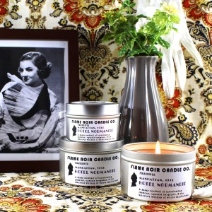 Hotel Normanie - Nora Charles inspired all natural soy wax candle - Flame Noir Candle Co
