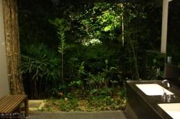 Baños en los jardines botánicos