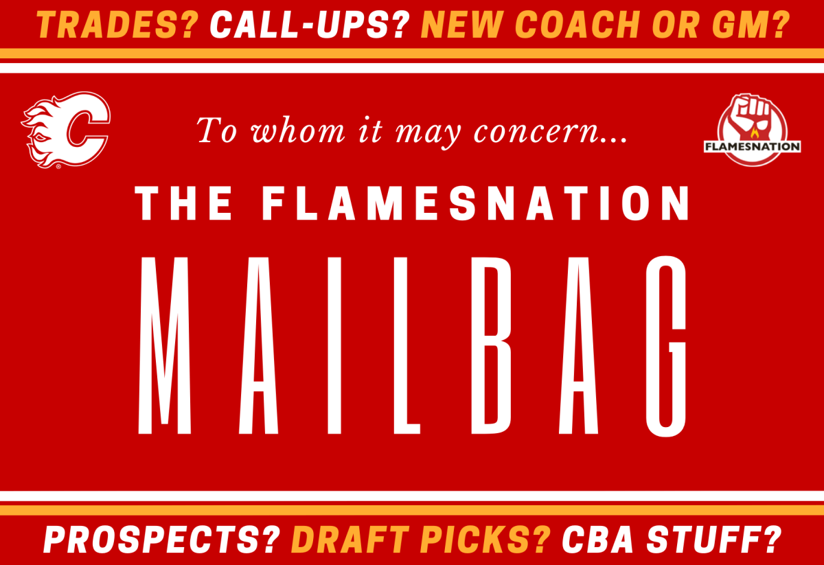 FlamesNation mailbag: all over but the crying