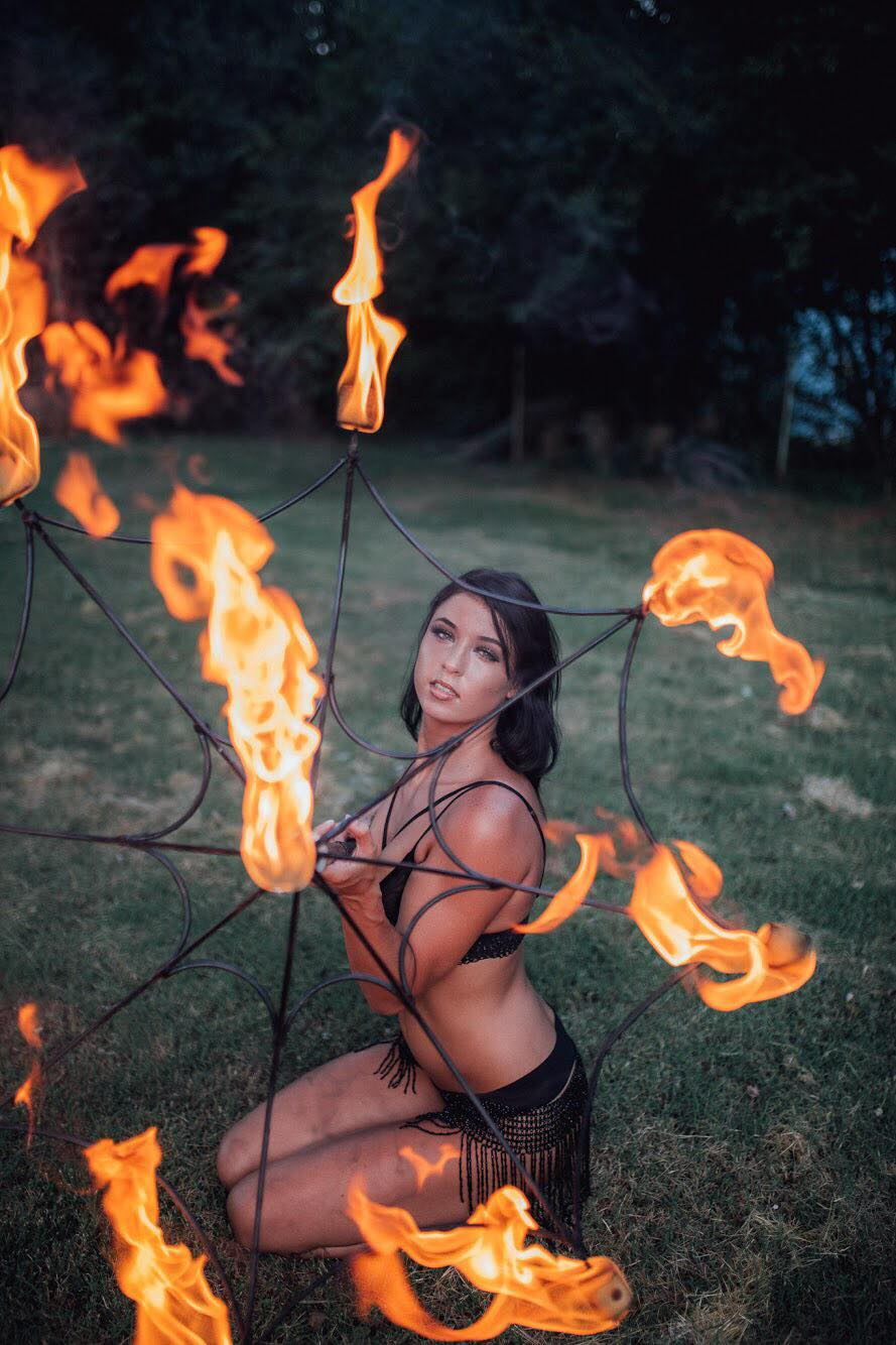 Haley Lane Knoxville Tennessee Fire Dancing Babe