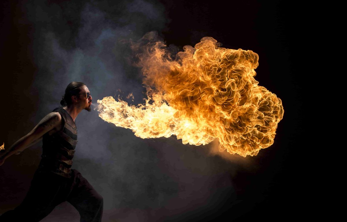 Philadelphia Fire Breather Fire Show Entertainment Flamewater
