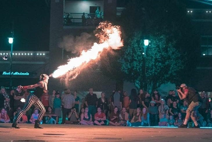 Wichita Fire Performer Fire Breather Madison Flamewater Circus