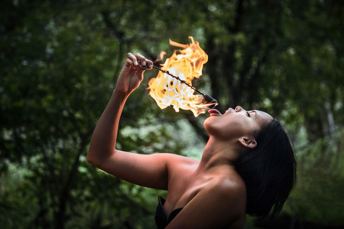 Chicago Fire Dancer and Fire Eater Logan Cruz Flamewater Circus