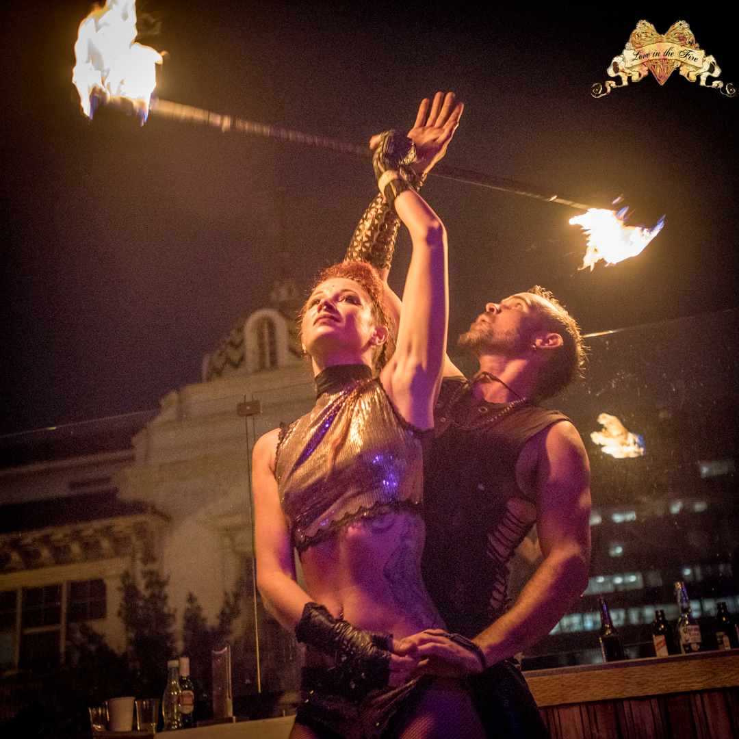 Los Angeles Fire Dancers Lester & Samantha Flamewater Circus