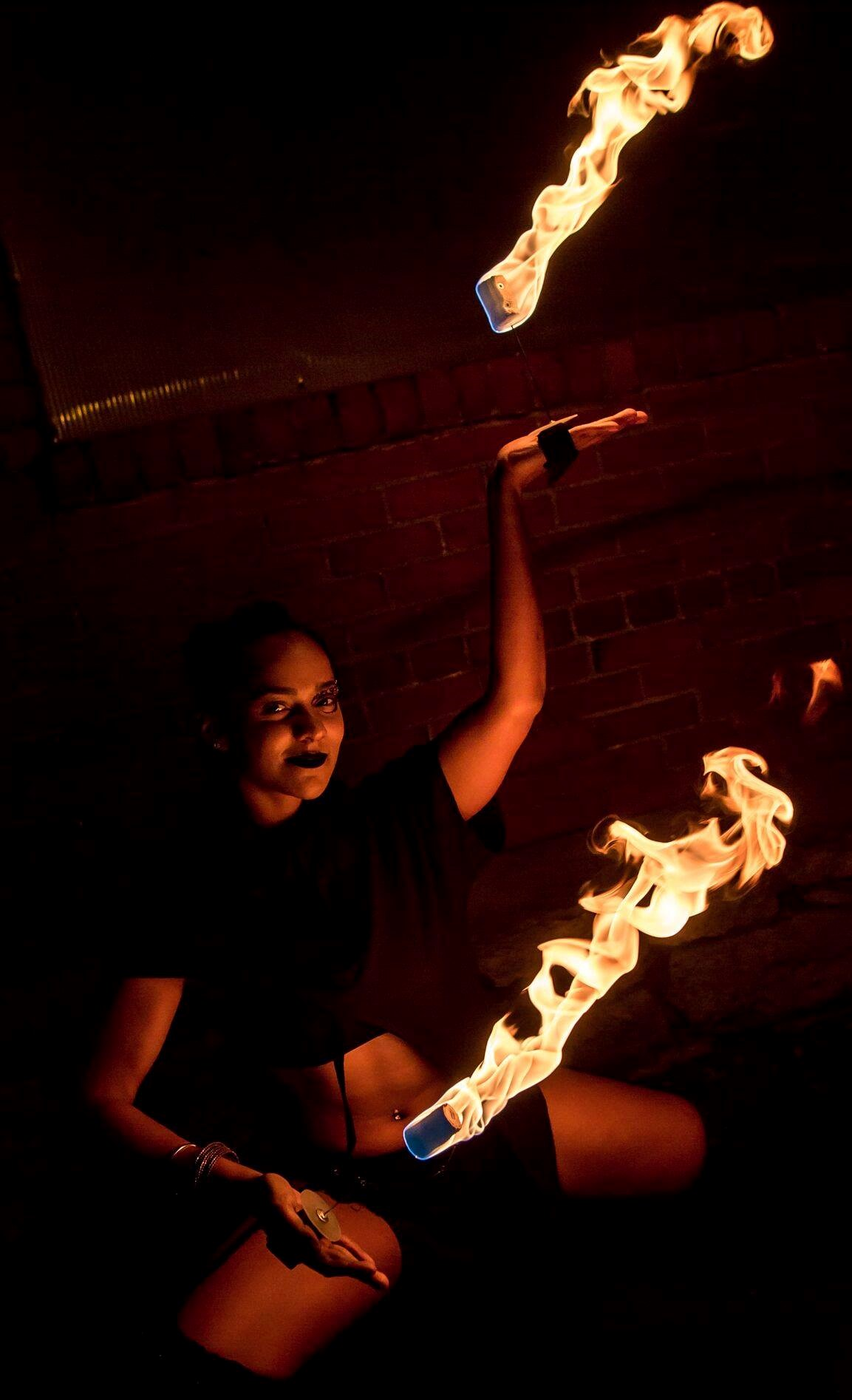 Ohio Fire Performer Maya Skye Flamewater Circus