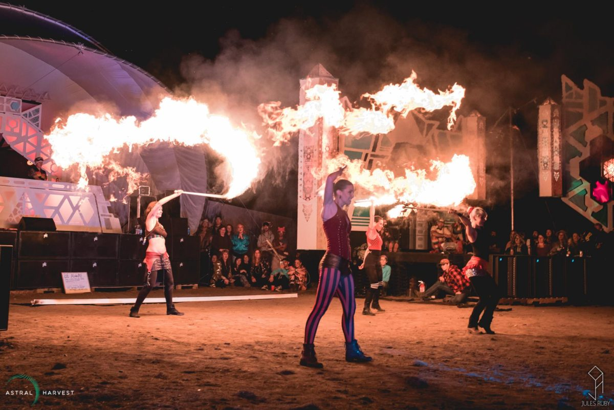 Calgary Fire Show Sandra Safire Flamewater Circus