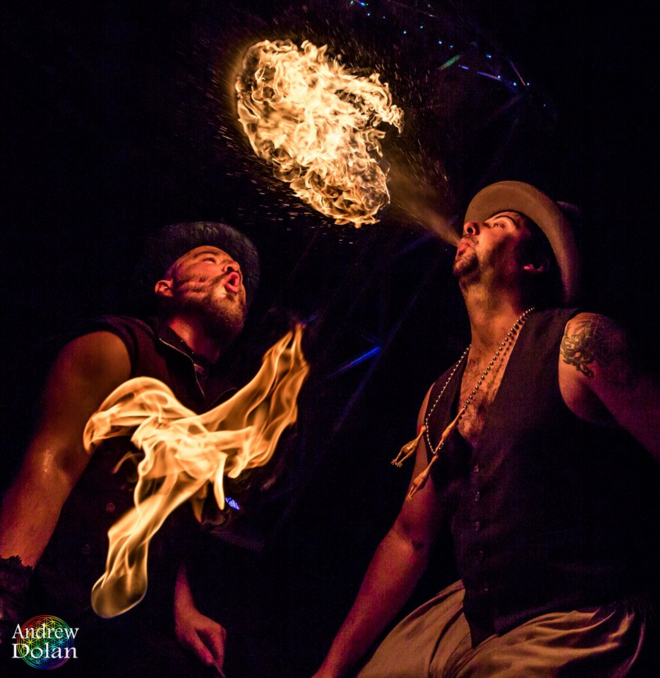 Fire Breathers Shade Flamewater Jandro Fuego Flamewater Circus