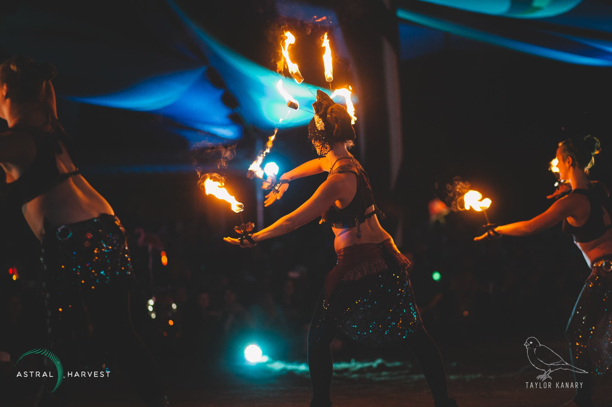 Marcia and Fire Belly Dancers Flamewater Circus