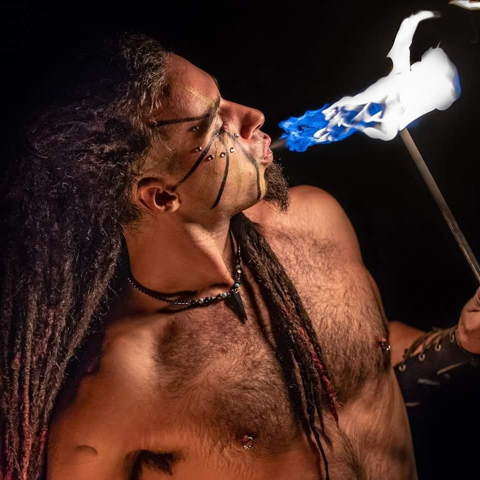 Montreal Fire Eaters Golem Obsidian Flamewater Circus