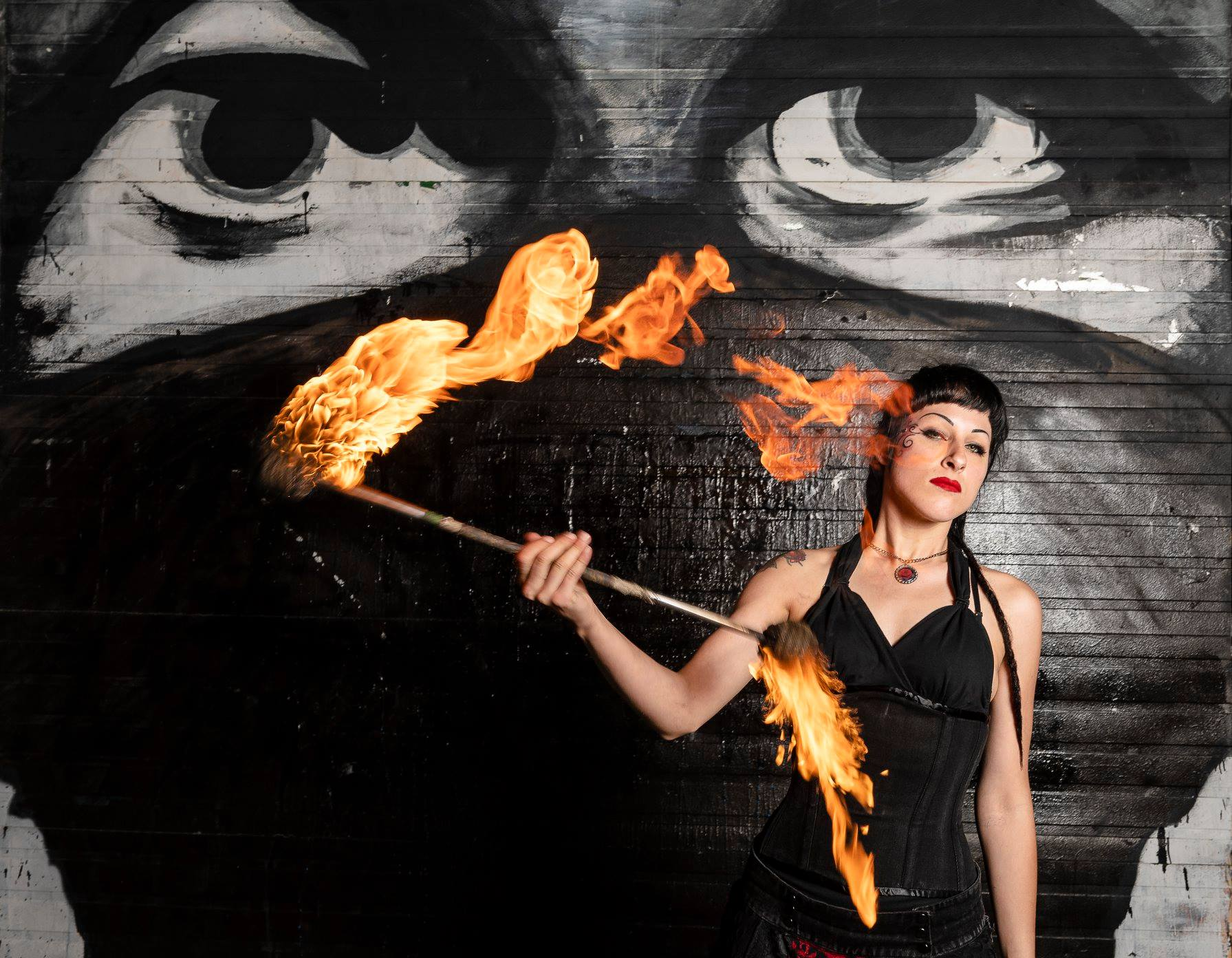 Quebec Fire Dancer Valerie Rose Flamewater Circus