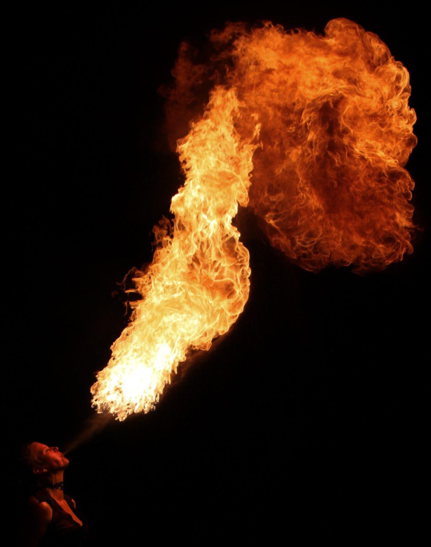 Winnipeg Fire Breather Tara Patrice Flamewater Circus