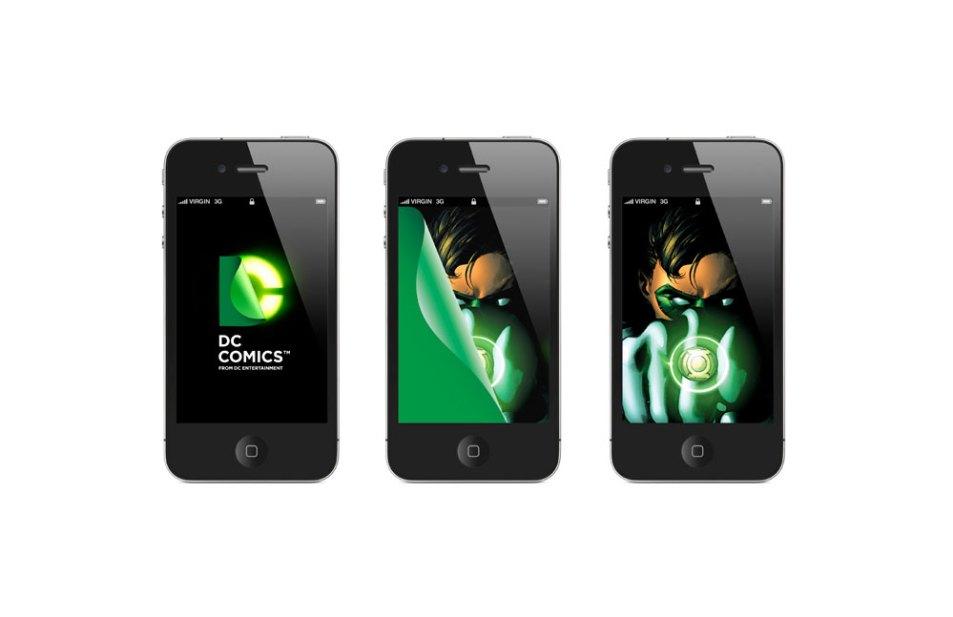 Logo DC Comics sur Iphone