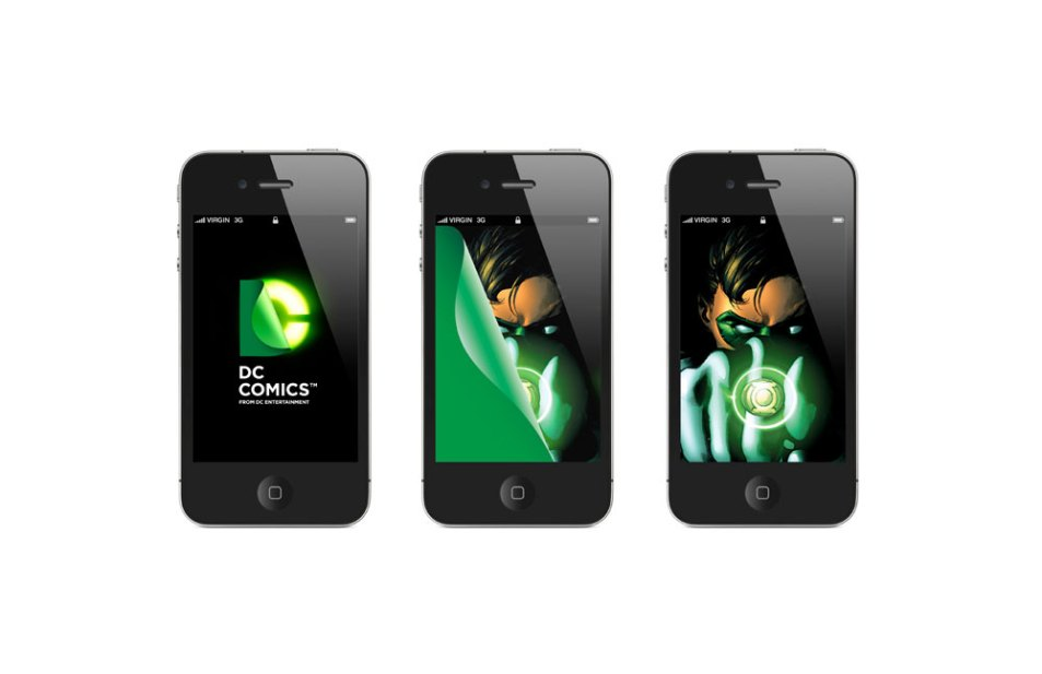 Logo DC Comics sur Iphone