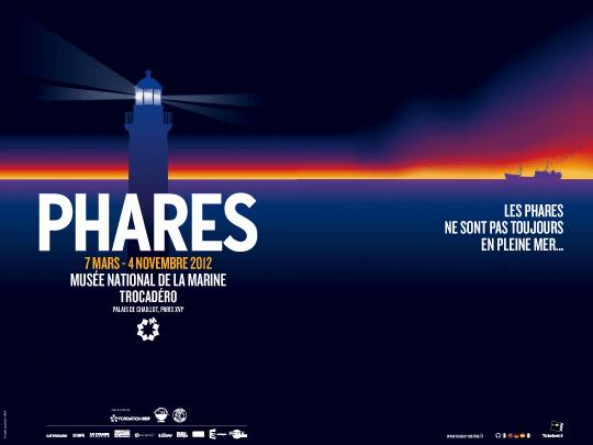 Affiche de l'exposion Phares