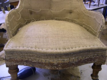traditional upholstery techniques stitched seat pad