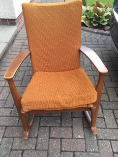 Rocking chair in need of re-upholstery