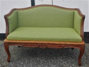 antique re-upholstered sofa