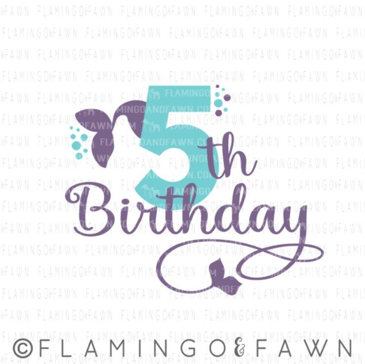 5th Birthday Mermaid Flamingo And Fawn