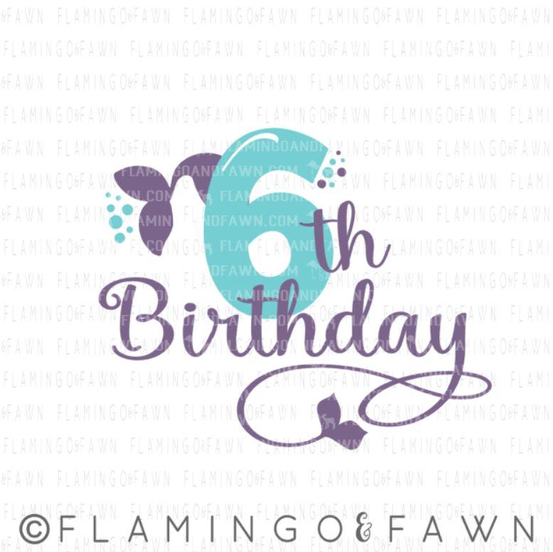 6th Birthday Mermaid Flamingo And Fawn