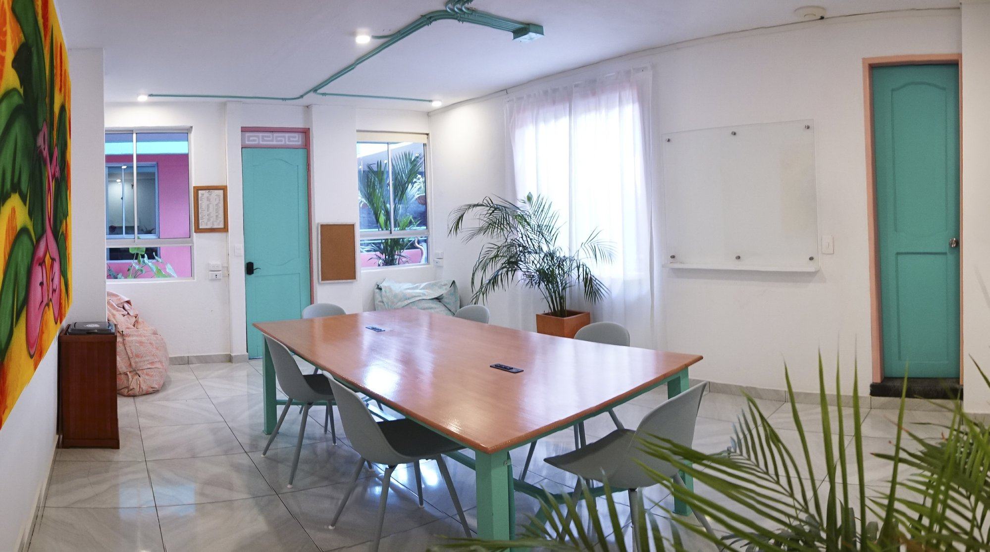 Meeting Room at Flamingo Coworking in Santa Marta Colombia