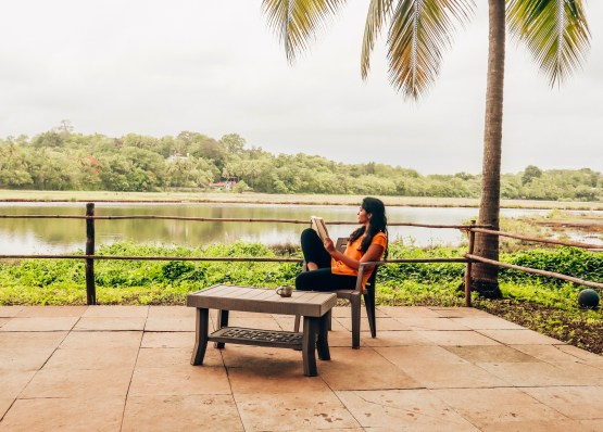 Found a perfect reading spot in goa