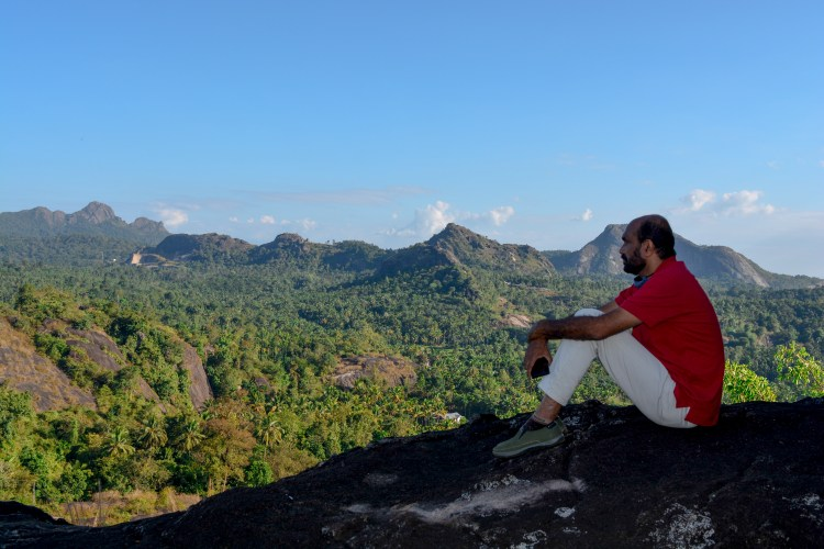 Pavitran mash lost in the beautiful view