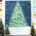 Rustic Christmas Tree Pallet Painting
