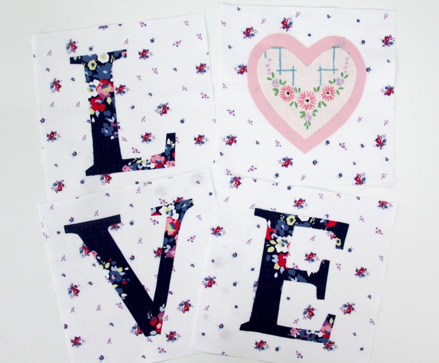 Floral LOVE Mini Quilt