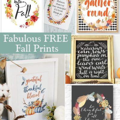 Fabulous Free Fall Printables