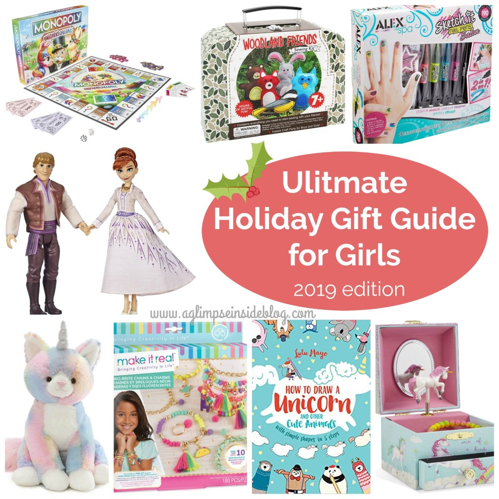 """Gift Ideas for """"Grown Ups""""! by popular Tennessee life and style blog, Flamingo Toes: graphic image of gift guide for girls."""