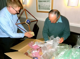 Mike and Roger unpack the VLF equipment