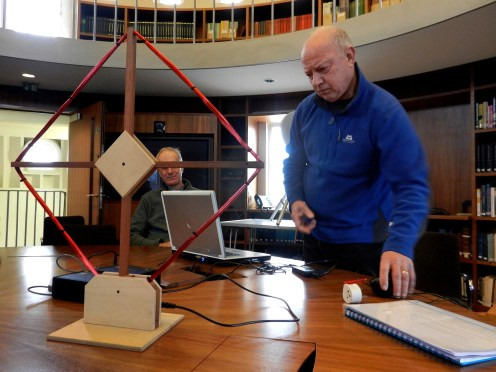 Clive sets up the VLF receiver in the Endeavour Room