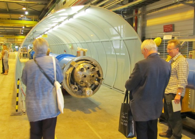 Flamsteed members inspect a section of the Particle Accelerator