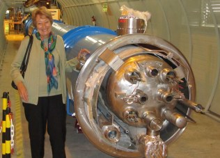 Jane and a section of the Particle Accelerator