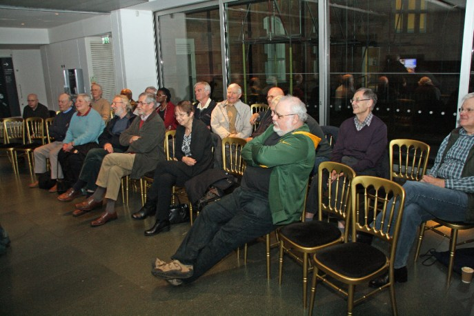 Members of the History of Astronomy Group listen to Roy's talk