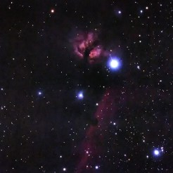 Orion Flame and Horsehead Nebula from Blackheath