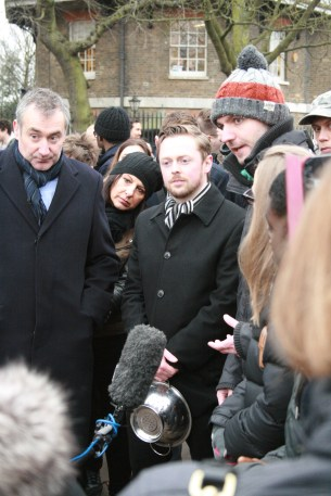 Brendan and Tom being interviewed by Sky News