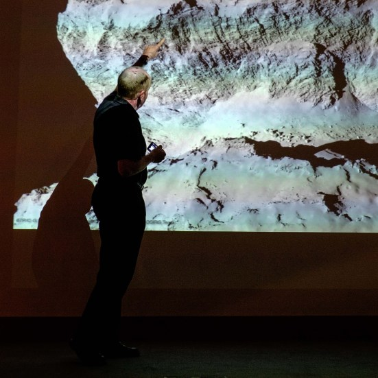 Professor Mark McCaughrean describes the surface of Comet 67P