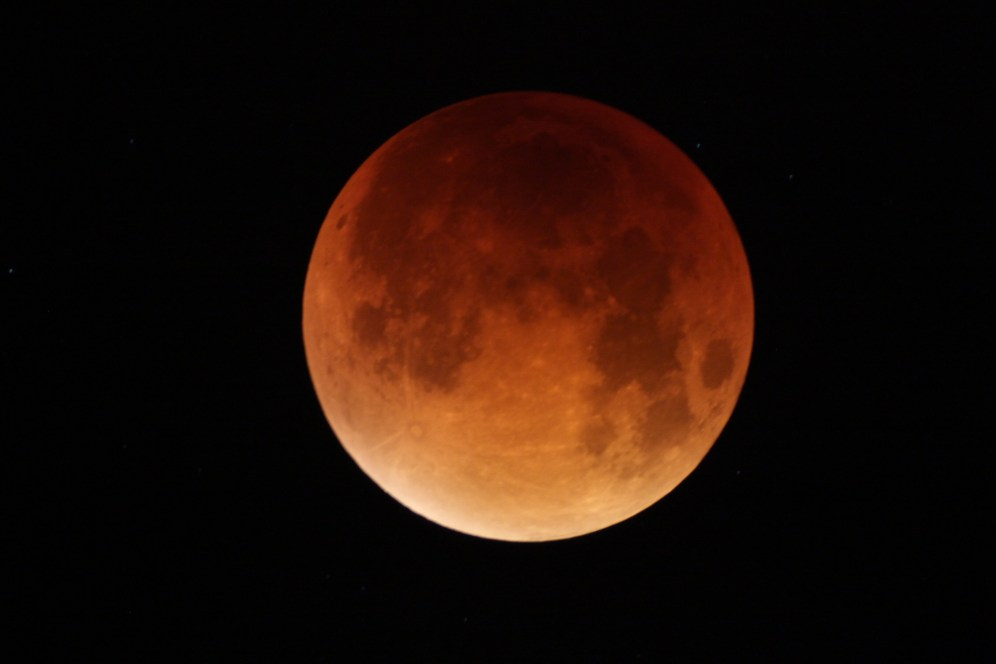 Lunar eclipse from Friston, Suffolk by John Williams