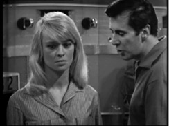 """Julie Christie and Peter Halliday in """"A for Andromeda"""" BBC 1961"""