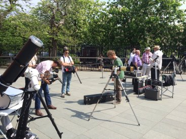Scopes are set up and it's still sunny at the Royal Observatory