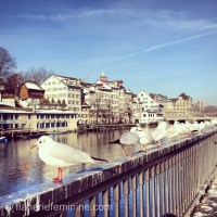 The streets of Zurich: Limmatquai: Café Odeon