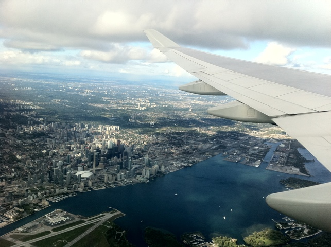 Toronto from a Air France Boeing...