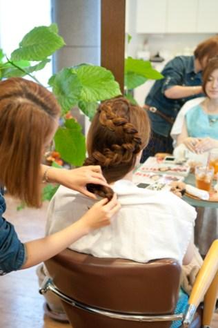 オリジナルアレンジヘアー|青葉区、藤が丘、美容室、フラップヘアー