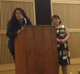 Hermanas Unidas de Humboldt opening event keynote speakers Alicia (left) and Monica (right).