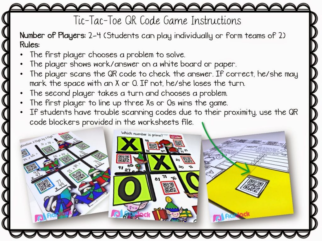 Identifying Angles Qr Code Math Game Freebie