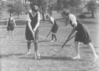1927, women's field hockey. KSU Libraries, Special Collections and Archives.