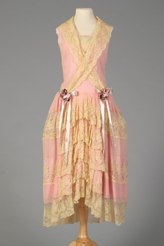 American, ca. 1924-1928. An example of the popular trend of robe de style dresses.